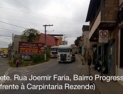 Outdoor Rua Joemir Faria em frente a Carpintaria Rezende